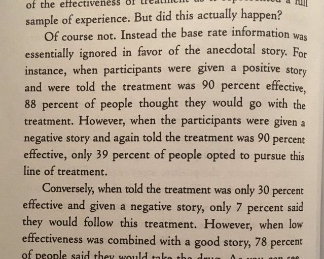 On stories persuading us more than bland stats (even for the most serious of matters)