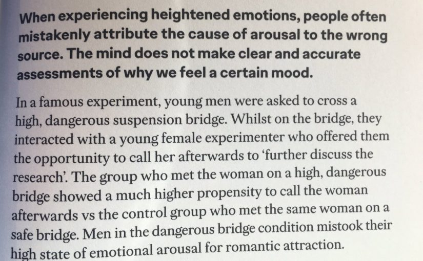 💎 On the misattribution of arousal (she's not that into you)