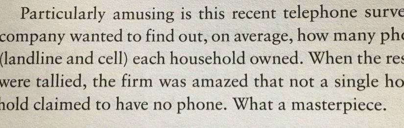 💎 On the importance of getting a representative sample (telephone survey to assess telephone ownership)