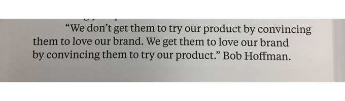 💎 On advertising and the attitude problem (product over brand)