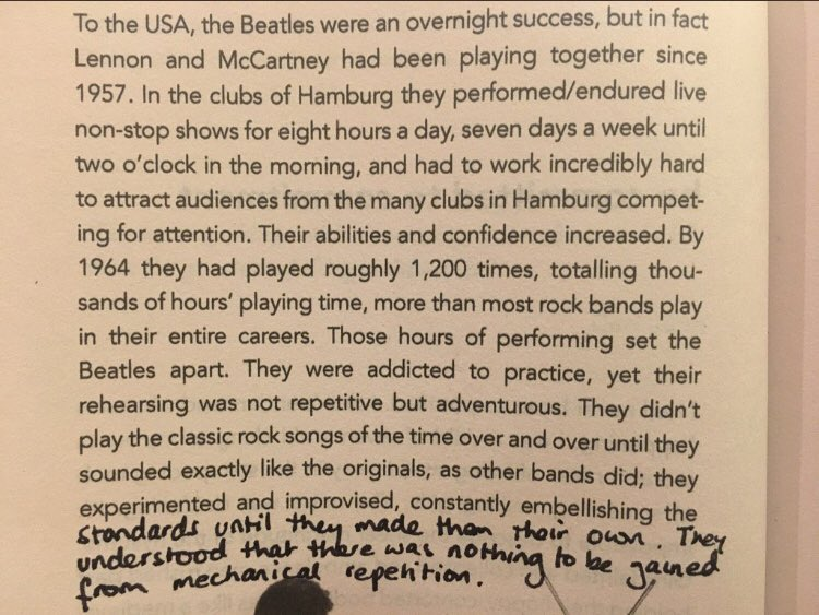 💎 On the myth that talent alone is enough (the Beatles were not an overnight success)