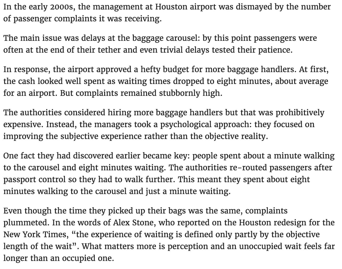 Houston Airport Queues