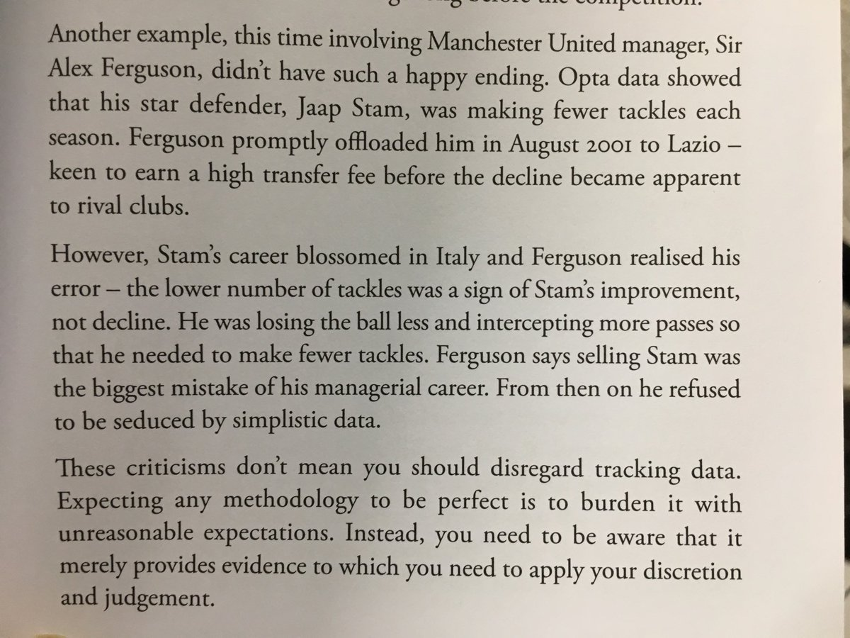 💎 On the danger of interpreting data at face value (Alex Ferguson's mistake selling Jaap Stam)