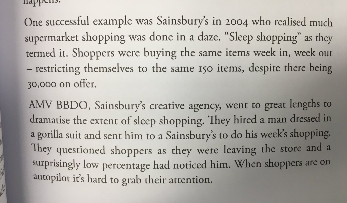💎 On how little shoppers notice when in store (sleep shopping)