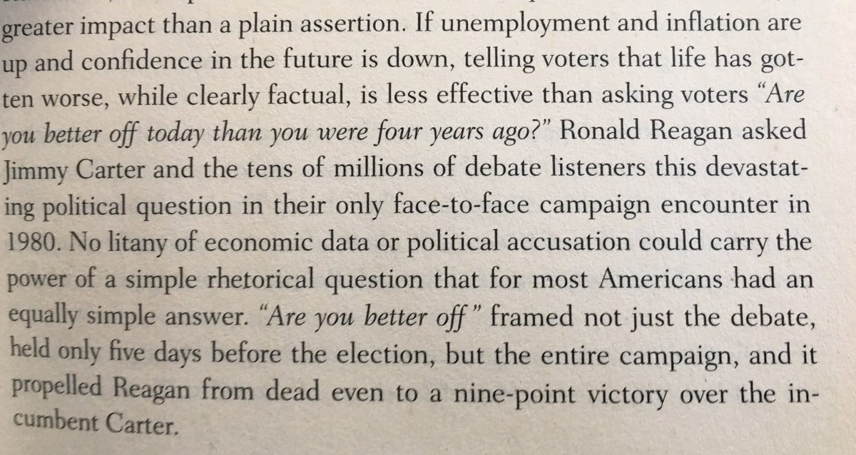 💎 On the power of asking a question rather than just stating a fact (during political campaigns)