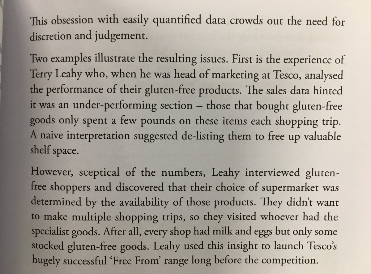 "💎 On obsessing over easily quantified data often having damaging results (the invention of the Tesco ""Free From"" range)"