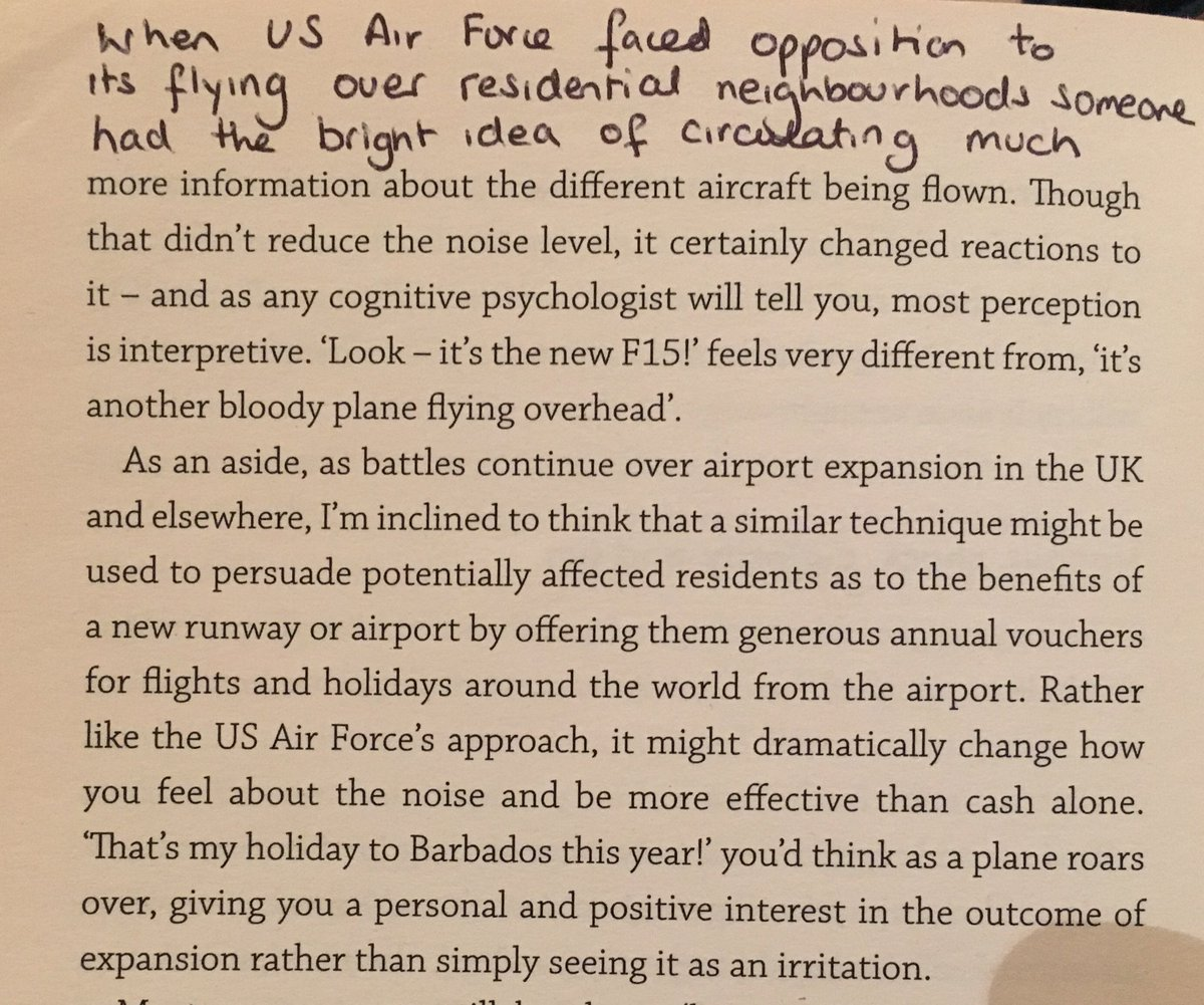 💎 On reframing the irritating noise of planes flying overhead (get people involved)