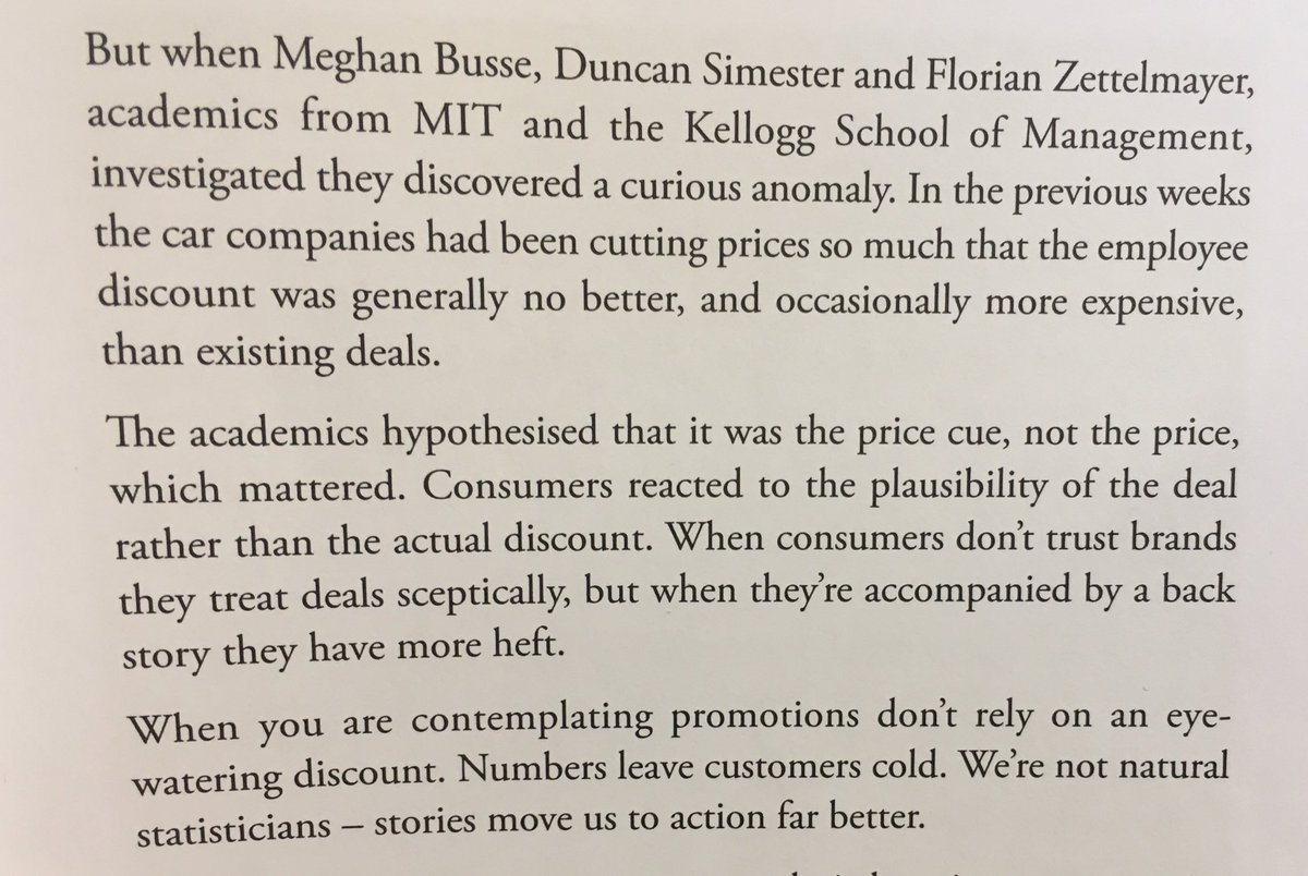 On the importance of providing a backstory to price cuts