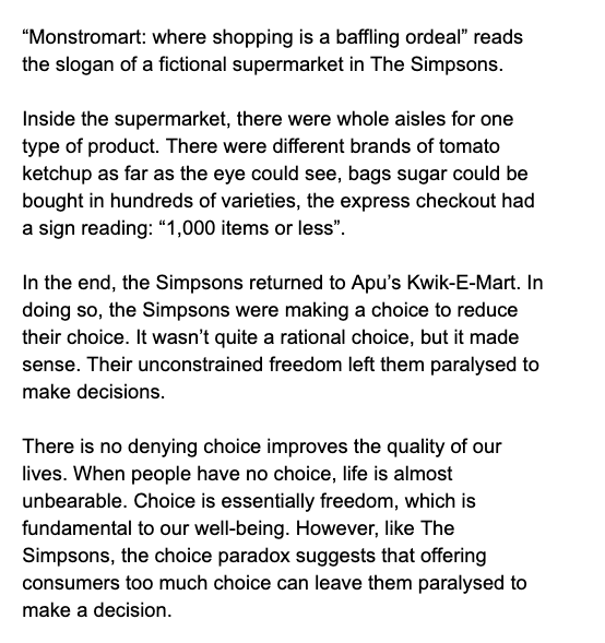 💎 On the paradox of choice (Monstromart: where shopping is a baffling ordeal)