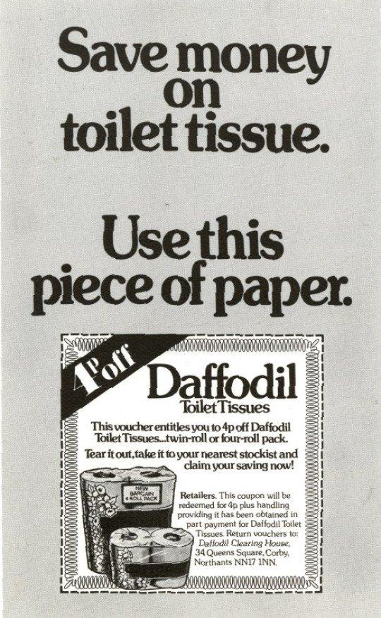 Daffodil toilet tissue