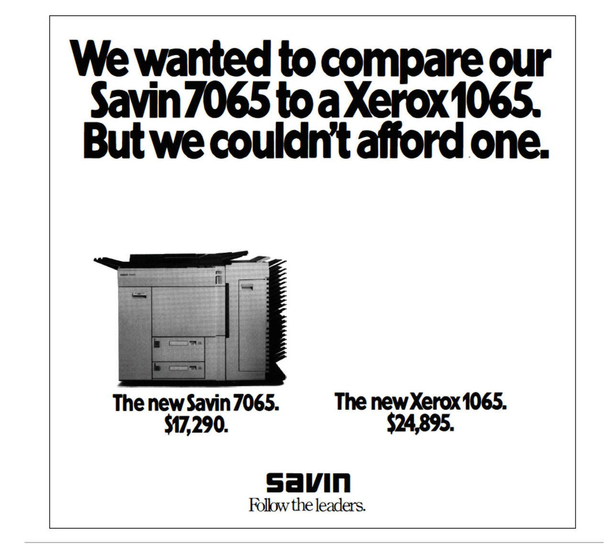 Savin Xerox Ad