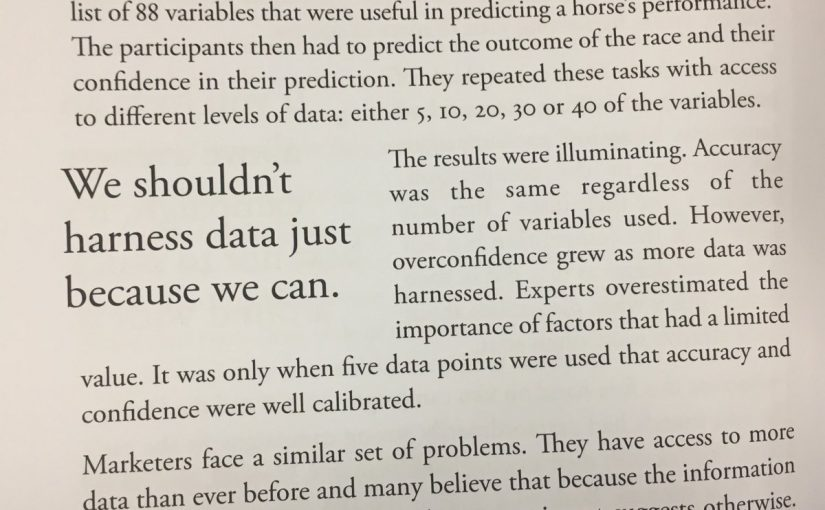 💎 On how too much data can make us overconfident in our predictions (rather than boost their accuracy)