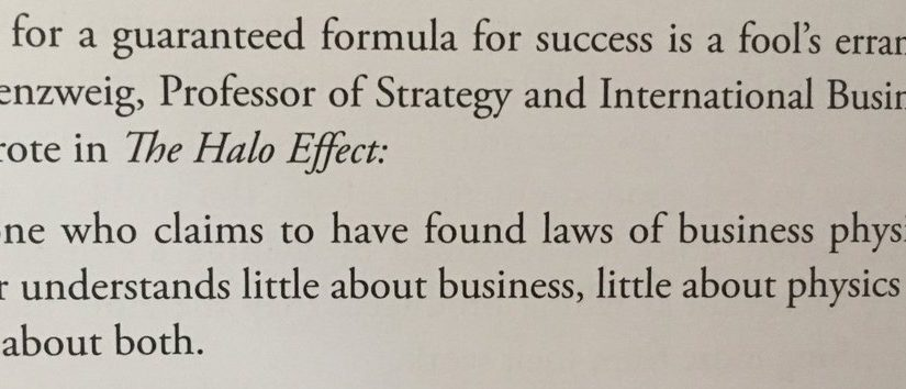 On the folly of hunting for a guaranteed formula for business success