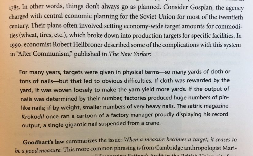 💎 Goodhart's law and the unintended consequences of targets (in the former Soviet Union)