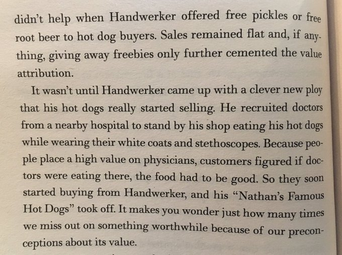 💎 On avoiding the perception that cheap prices equate to poor quality (selling hot-dogs)