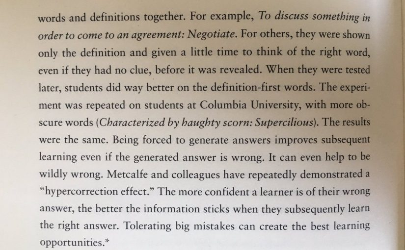 💎 On how tolerating big mistakes can create the biggest learning opportunities (hypercorrection effect)