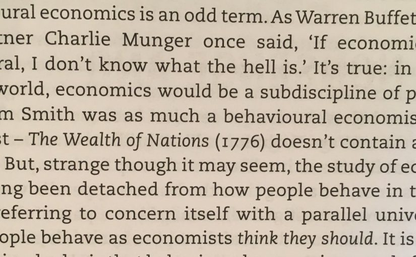 On behavioural economics being an odd term