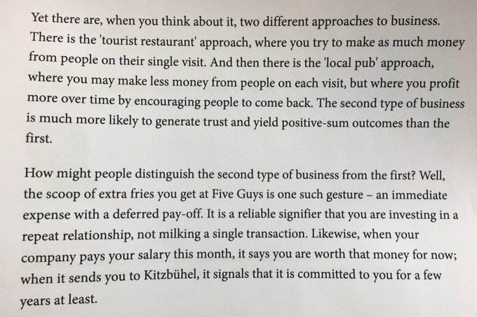 💎 On the local pub approach to (repeat) business