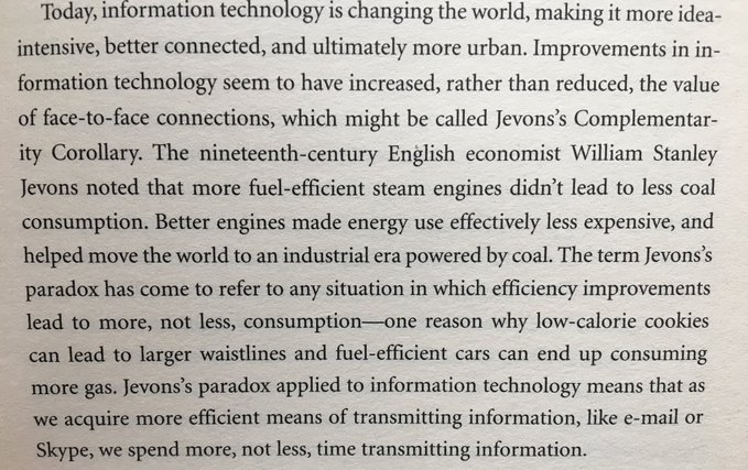 On how communicating ends up taking more of our time when technology makes it more efficient