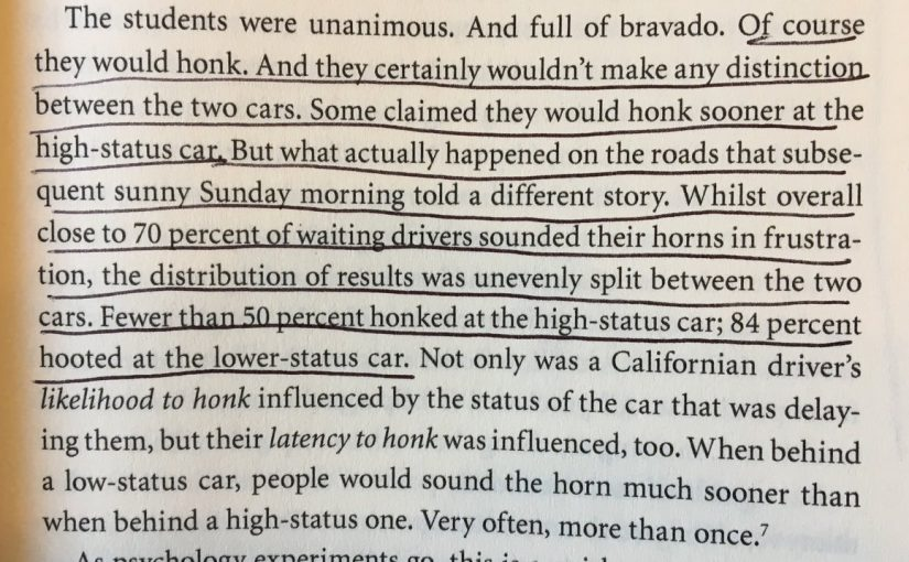 💎 On how signals of status (like an expensive car) affect behaviour