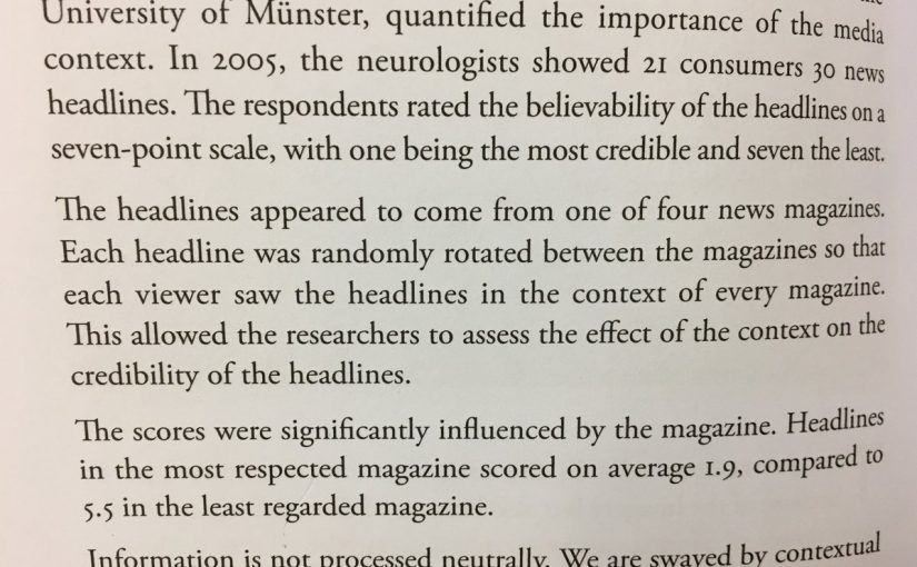 On information not being interpreted neutrally