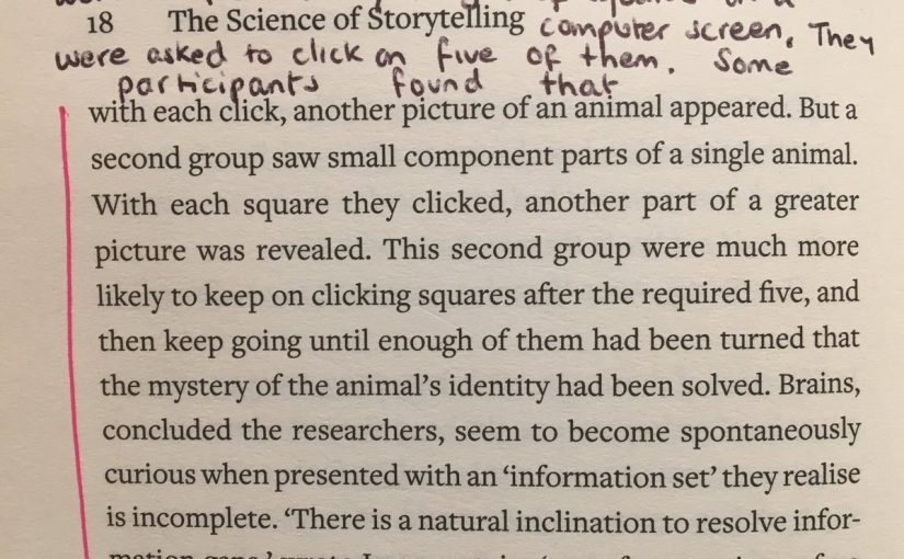 On the importance of creating 'information gaps'