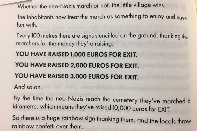 💎 On how a German village dealt with the problem of neo-Nazis (by reframing the problem)