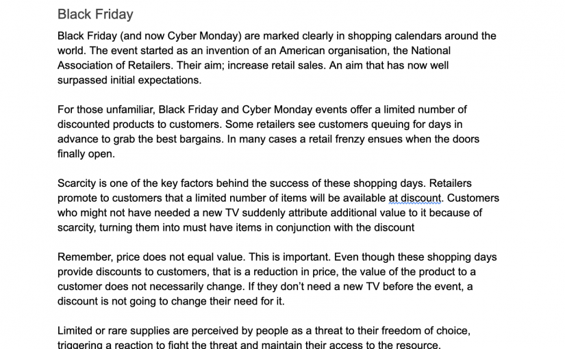 💎 On the blurred lines between price and value (especially on Black Friday)