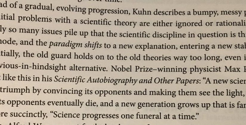 "💎 On science progressing ""one funeral at a time"" (the old guard)"