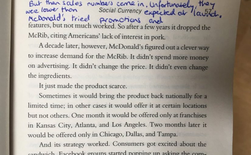 On the McRib and the power of scarcity