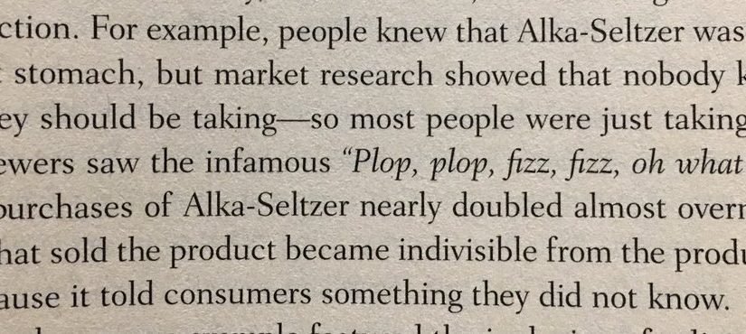 💎 On Alka-Seltzer and the importance of making a product's function clear (in the tagline)