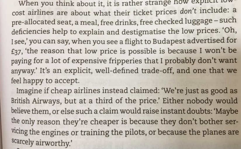 On the pratfall effect and how it destigmatised low cost airlines