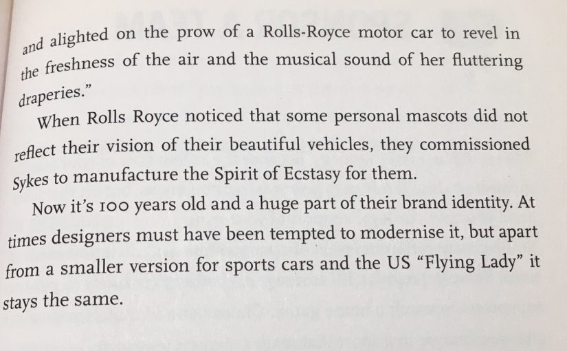 On the power of traditional brand identities (the Spirit of Ecstasy)