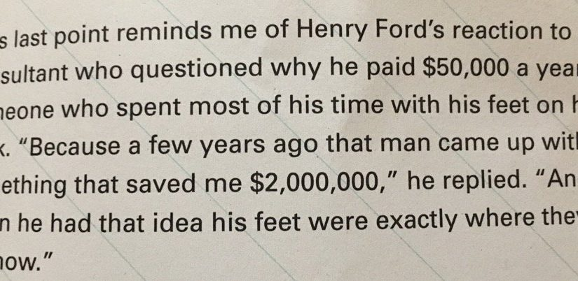 On confusing the quantity and quality of work (a lesson from Henry Ford)