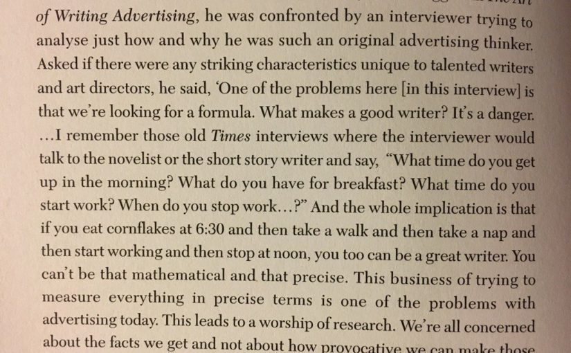 On the danger of looking for formulas in advertising