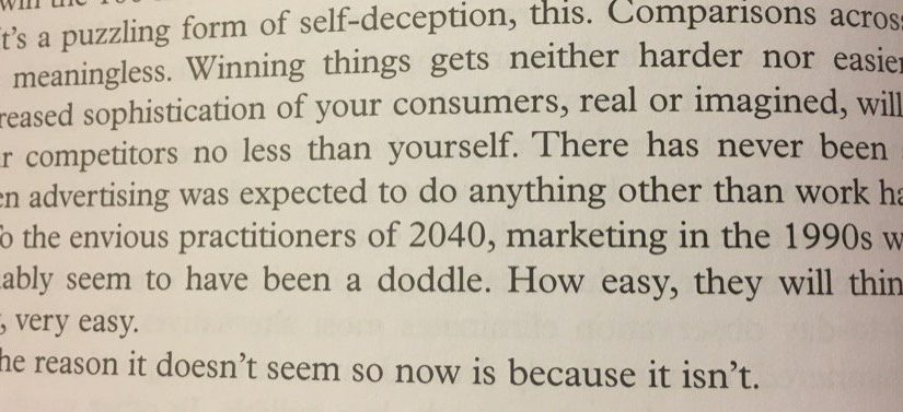 💎 On the mistake of thinking advertising has become harder (because it hasn't)