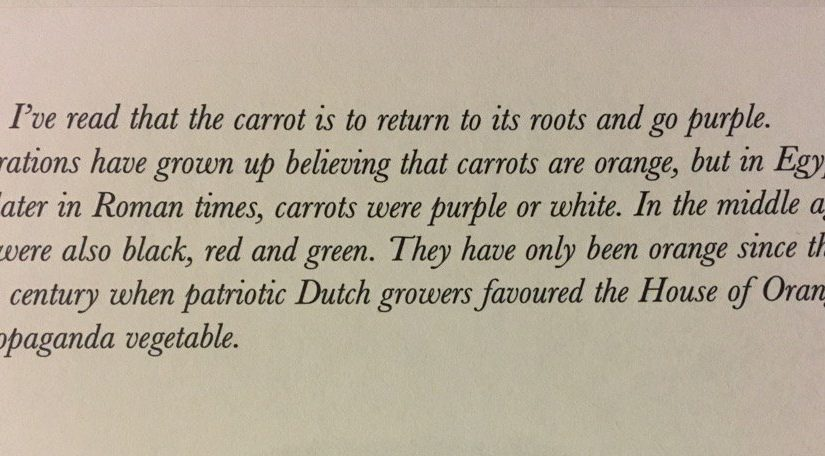 On the only vegetable that doubles as a piece of advertising (the carrot, propaganda vegetable)