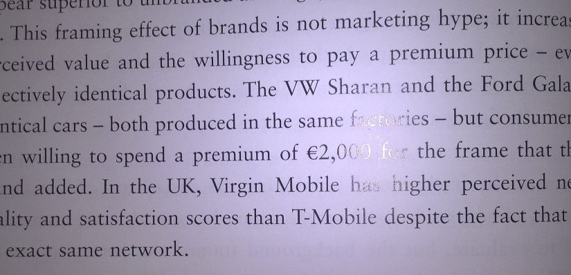 On the financial value of the framing effect of brands
