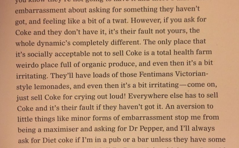 On removing anxieties about buying a product (Dr Pepper)