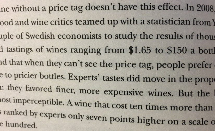 On the power of a price tag (they are used as an incorrect indicator of quality)