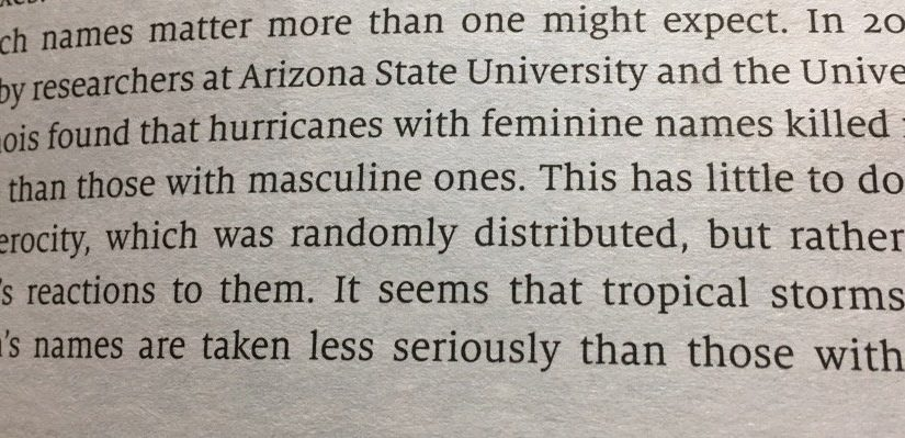 On the power of names (why female storms kill more than male ones)