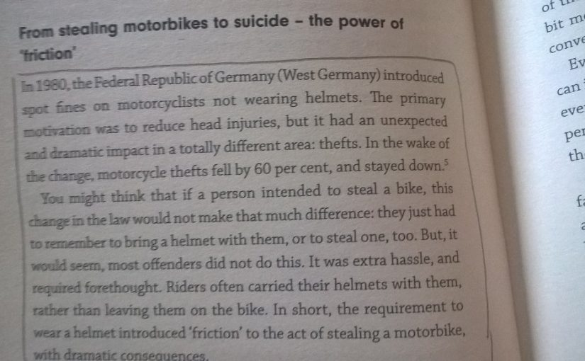 On the unintended consequence of public policies (motorcycle helmets)