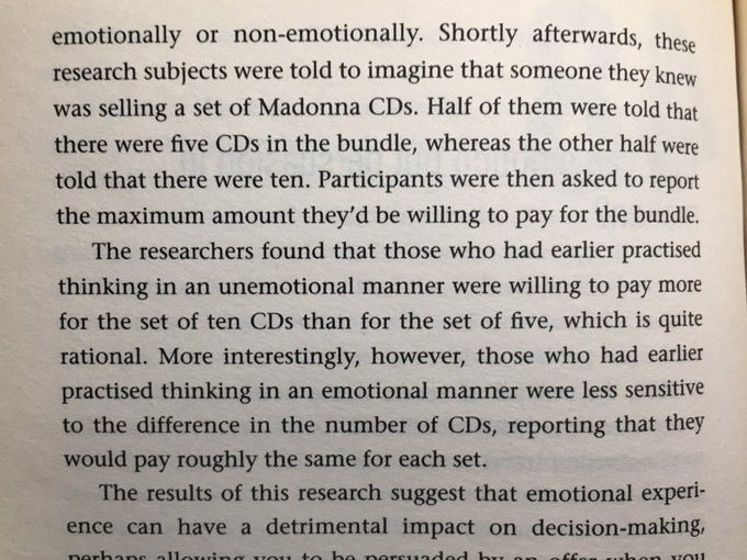 On how our emotions lead us to become less sensitive to differences in the magnitude of numbers (buyer beware)