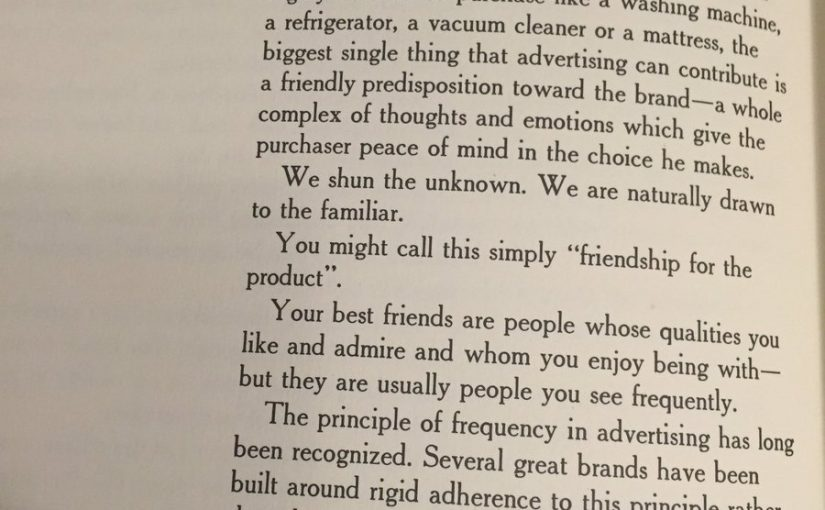 On the power of brand familiarity (friendship for the product)