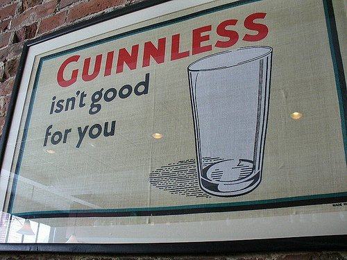 Guinness could no longer say it was good for you.