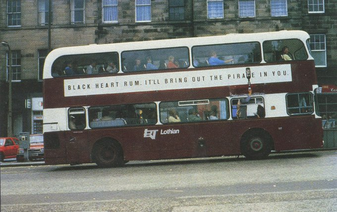 Black Heart Rum ad brilliantly using the medium