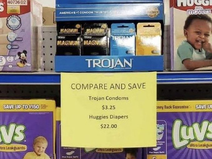 Price relativity in action- making Trojan condoms look better value