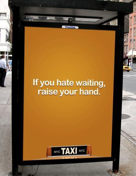 Smart taxi ad from NYC taxi