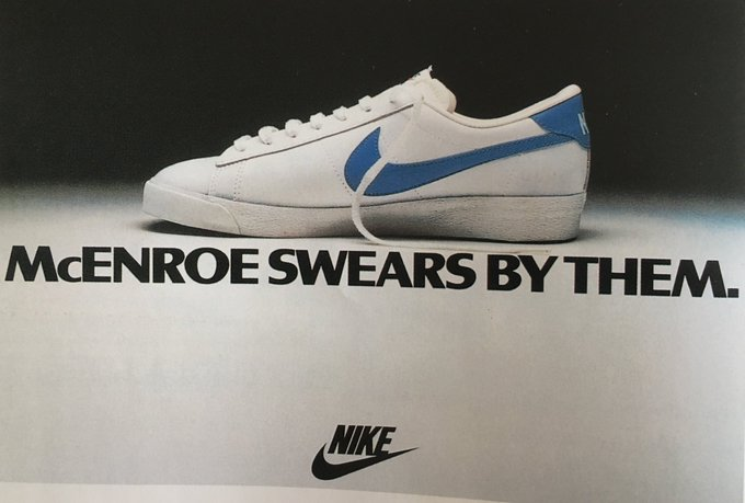 Nike harnessing the athletes' (John McEnroe) personality in their ads