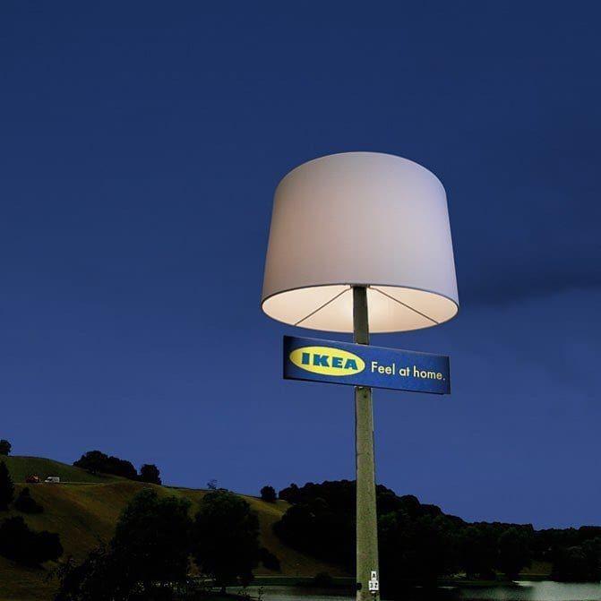 IKEA's ambient marketing using street furniture